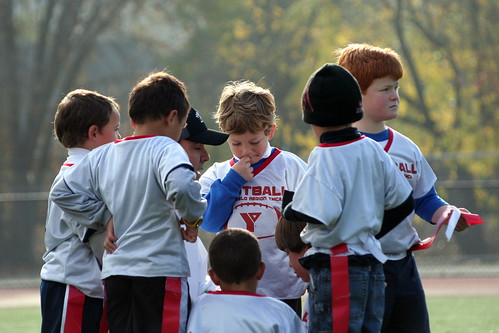 In the huddle