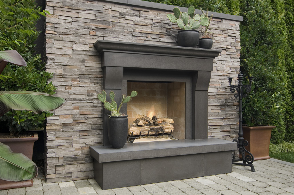 Cornice Cinder Cast Concrete Fireplace Mantel A Photo On