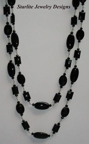 Starlite Jewelry Designs - Black Onyx Necklace - Jewelry Design