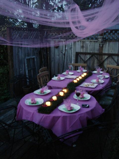 Birthday Table Spread  Ashleys 24th Birthday Dinner decor ...