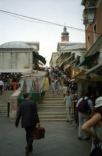 Image of Rialto Bridge. 2001 bridge venice italy venezia rialto june2001