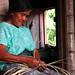 A mayan woman weaving