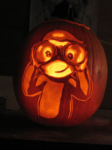 Curious George Pumpkin Carving Carved By St0ney Pumpkin Flickr