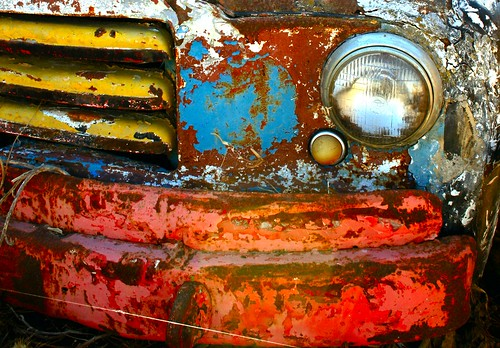 old broken truck canon eos transport rusted vehicle dodge colourful gozo delapitated 400d rebelxti canoneos400d aplusphoto flickraward diamondclassphotographer flickrdiamond catchycolorredblueandyellow