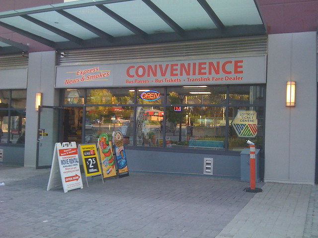 Convenience at Holdom Station