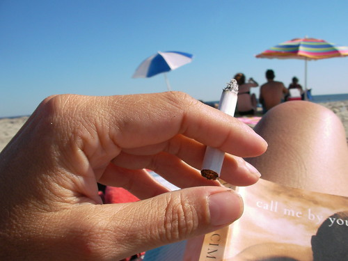 beach smoking