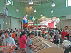 The crowd at the grand opening.