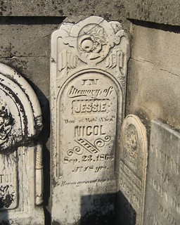 Jessie Nicol - buried 1863 at the  Mellor Cemetery, Southwold, Elgin, Ontario, Canada