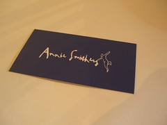 Front - Business Card - Annie Smithers Bistrot
