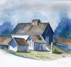 hut, paint, shack, painting, house, drawing, home, watercolor paint,