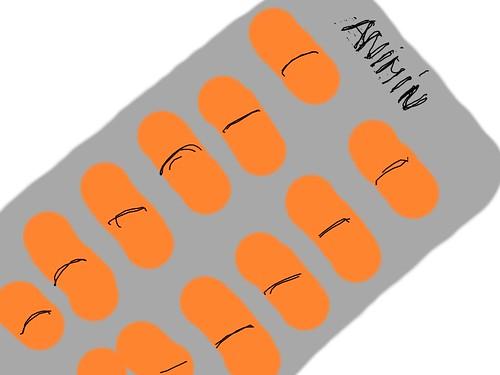 Ilustración: Pastillas Animín