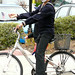 Mime riding a bicycle. Literally. by Vaguely Artistic