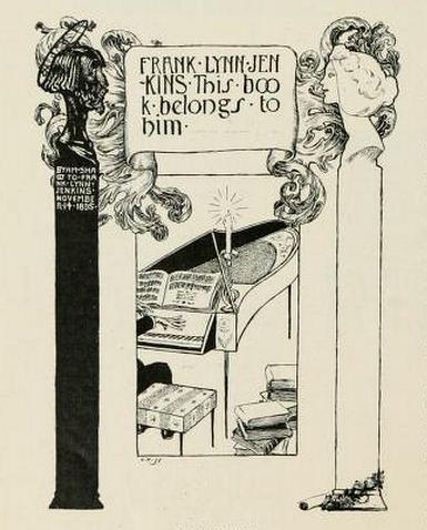 Bookplate of Frank Lynn Jenkins by Byam Shaw