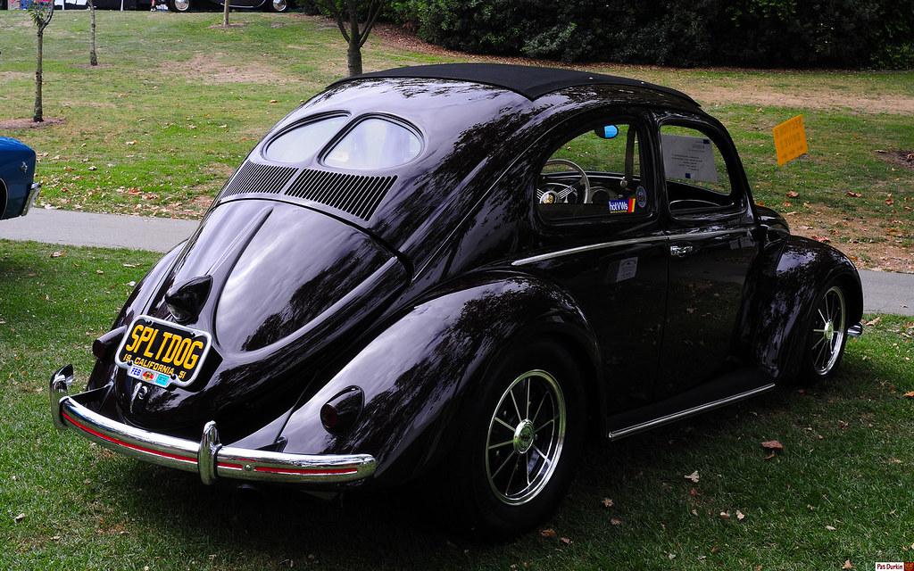 1951 volkswagen split window beetle - bordeaux red