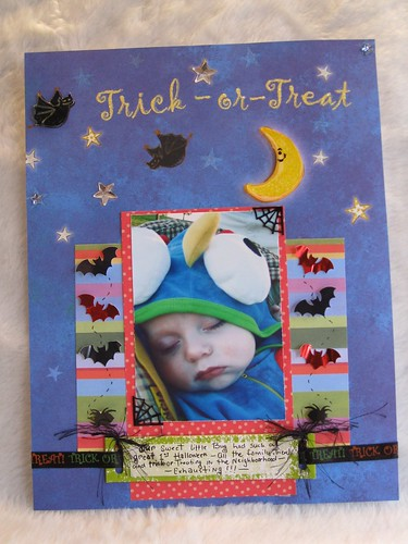 Caleb's 1st Halloween scrapbook page