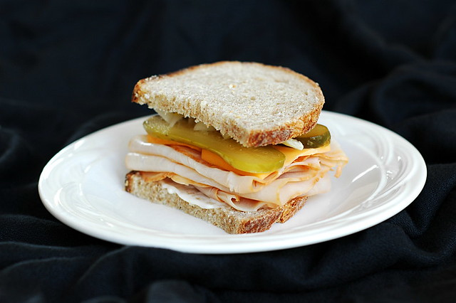 Turkey sandwich on wheat