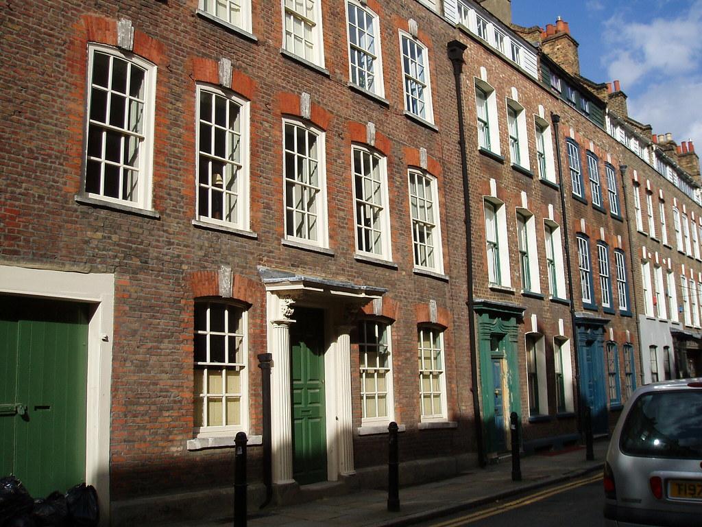 Modern Fournier Street in Spitalfields