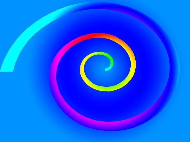 Blue rainbow spiral