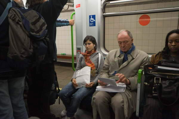 Peter Marshall spotted Ken Livingstone on the Tube