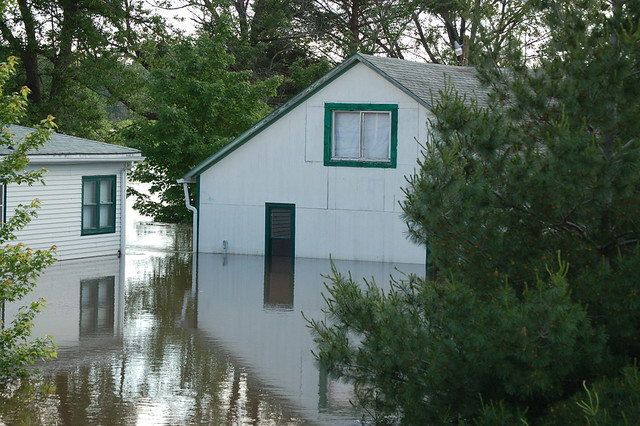 Flooding of a house