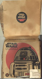 Pizza Hut personal pizza box from 1999 -- R2D2