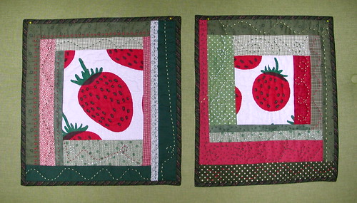 Mansikka miniquilts 1 and 2