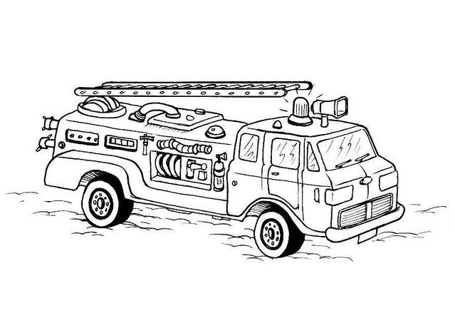 ausmalbilder feuerwehrautos
