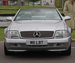 performance car(0.0), mercedes-benz w126(0.0), mercedes-benz r107 and c107(0.0), mercedes-benz sl-class(0.0), sedan(0.0), automobile(1.0), automotive exterior(1.0), wheel(1.0), vehicle(1.0), automotive design(1.0), mercedes-benz r129(1.0), mercedes-benz(1.0), bumper(1.0), land vehicle(1.0), luxury vehicle(1.0), vehicle registration plate(1.0), convertible(1.0),