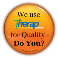 Graphic showing 'We use Therap for Quality-Do You?'