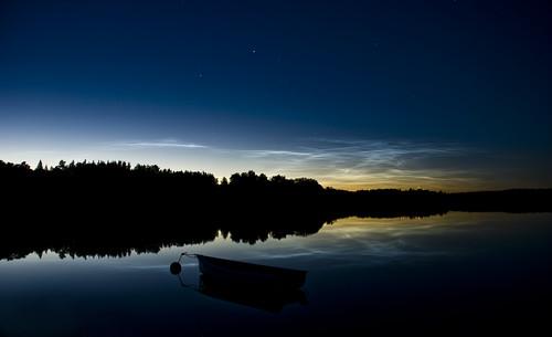 clouds lights nikon sweden stockholm northen noctilucent moln norrsken roslagen ljusterö d80 oskarbakke nattlysande