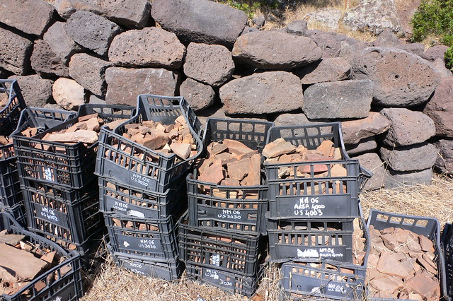 Ceramics found in the excavations at Nuraghe Mannu