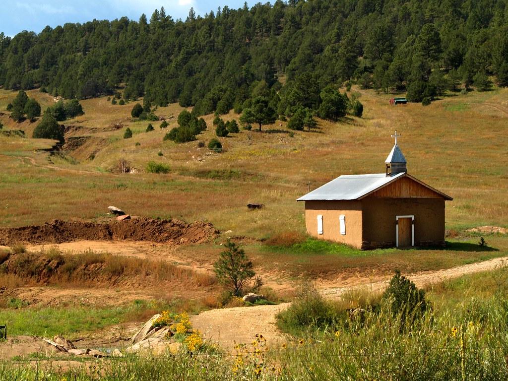 A Cowboy Church In New Mexico