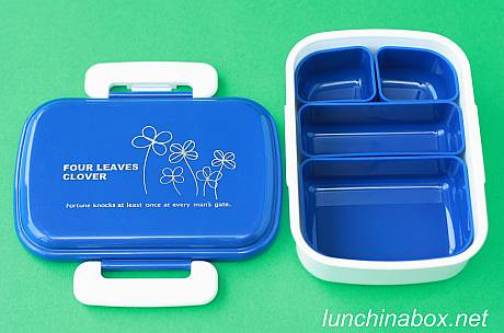 four leaves clover bento box with inserts flickr photo. Black Bedroom Furniture Sets. Home Design Ideas