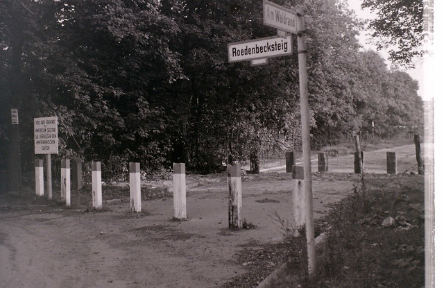 Zonal border near Glienicke Bridge, Berlin, 10 September 1959