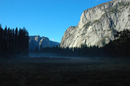 Fog in the valley floor, Yosemite National Park, California, USA by Wonderlane