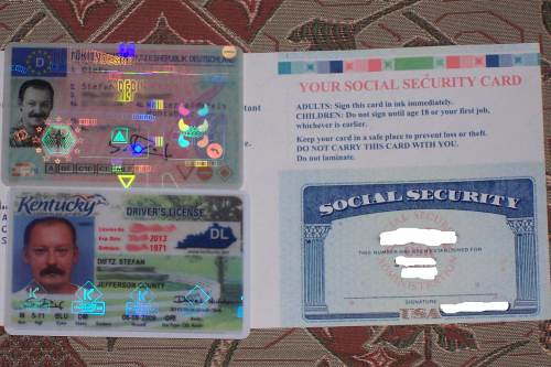 social security card + drivers license