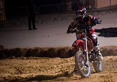 bicycle motocross(0.0), dirt track racing(0.0), motorcycle speedway(0.0), racing(1.0), freestyle motocross(1.0), soil(1.0), enduro(1.0), sports(1.0), endurocross(1.0), motorsport(1.0), motorcycle racing(1.0), extreme sport(1.0), stunt performer(1.0),