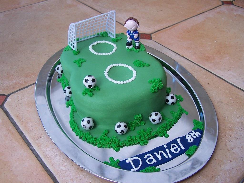 Making A Round Football Cake