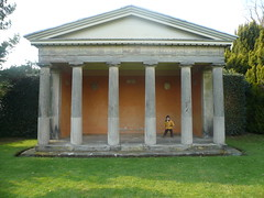 building, ancient greek temple, facade, column,