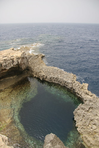 The Blue Hole, nr The Azure Window, Gozo
