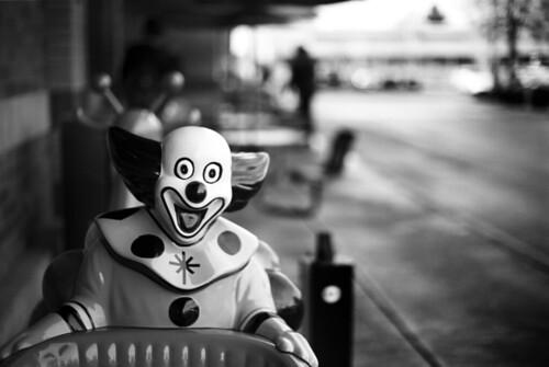 bw film oregon 35mm portland rangefinder pdx clowns bizarre ortho leicam3 kiddierides bluemooncamera zebandrews clownsarecreepy adoxortho25 gotaquarterpal blainisapain andthatisthetruth zebandrewsphotography