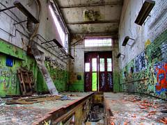 Bus repair halls, inside view (HDR)