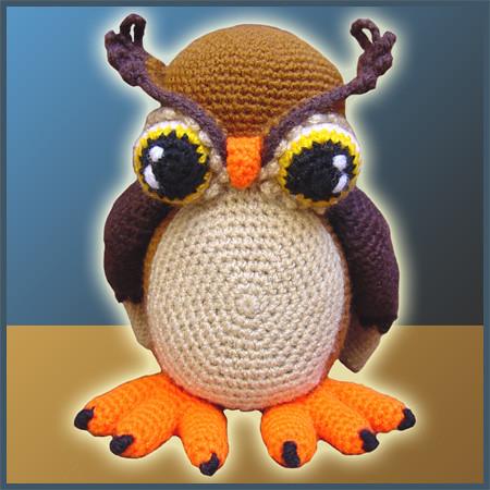 Horned Owl - Amigurumi Pattern by DeliciousCrochet ...