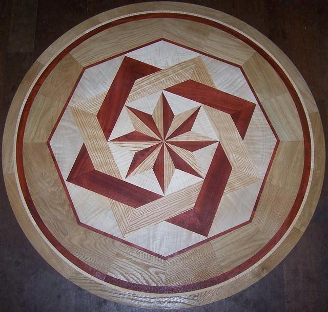 Goodling 35 hardwood floor medallion inlay majestic for Wood floor medallions