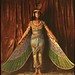 Dancer wearing Egyptian-look costume with wings reaching to the floor by George Eastman House