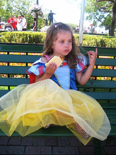 Sandwich eating, princess style
