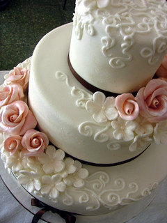 o´rose wedding cake!