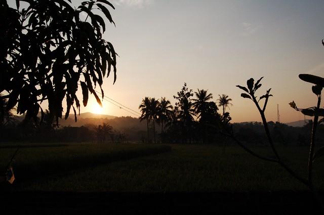 sunrise at pelabuhan ratu sukabumi jawa barat indonesia