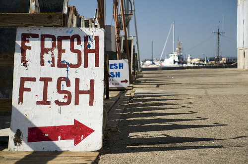 Fresh Fish sign in Monterey, CA.
