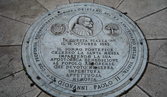 commemorative plaque, iron, manhole, manhole cover, circle,